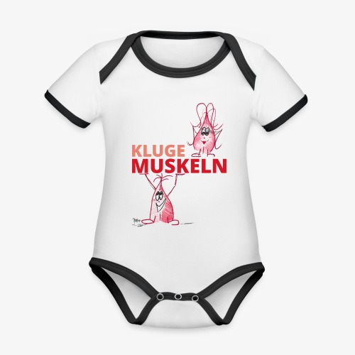 Kluge Muskeln - Baby Bio-Kurzarm-Kontrastbody
