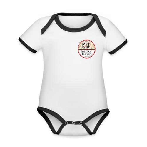 KSL Logo Neu rot - Baby Bio-Kurzarm-Kontrastbody