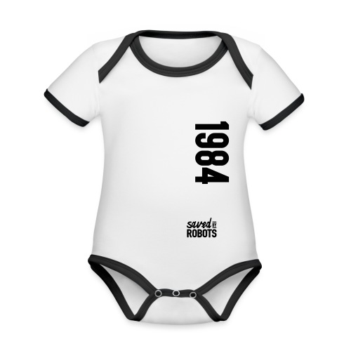 1984 / Saved By Robots Premium Tote Bag - Organic Baby Contrasting Bodysuit