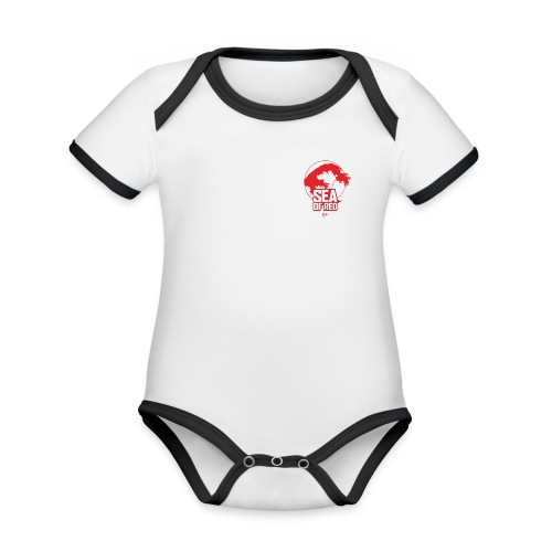 Sea of red logo - small red - Organic Baby Contrasting Bodysuit