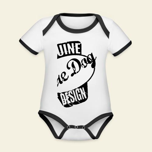 raredog fuelwear - Kortærmet økologisk babybody i kontrastfarver