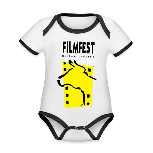 Filmfest Logo - Baby Bio-Kurzarm-Kontrastbody