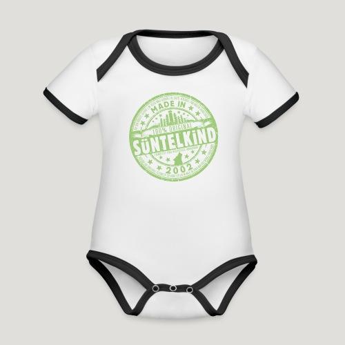 SÜNTELKIND 2002 - Das Süntel Shirt mit Süntelturm - Baby Bio-Kurzarm-Kontrastbody