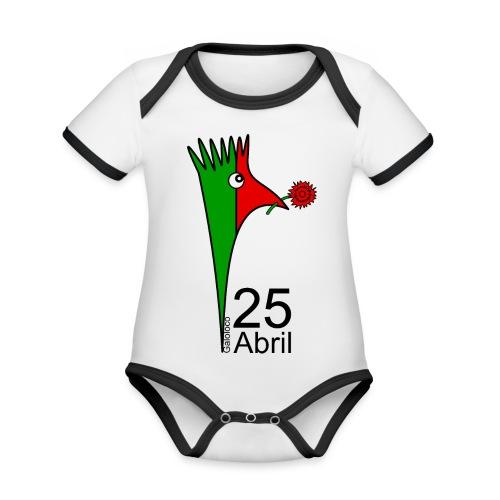 Galoloco - 25 Abril - Body Bébé bio contrasté manches courtes