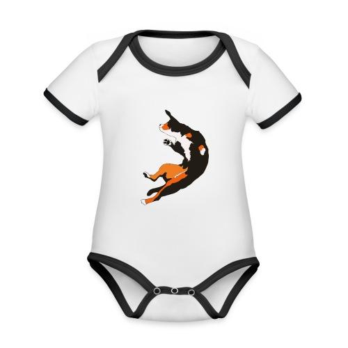 Entlebucher Hopp - Ekologisk kontrastfärgad kortärmad babybody
