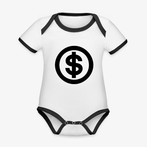 marcusksoak - Kortærmet økologisk babybody i kontrastfarver