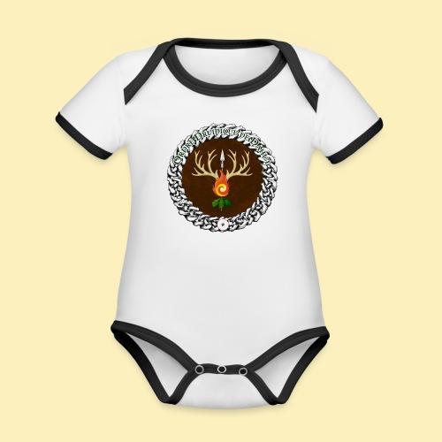Médaillon de Neved - Body Bébé bio contrasté manches courtes