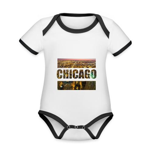 Chicago - Baby Bio-Kurzarm-Kontrastbody