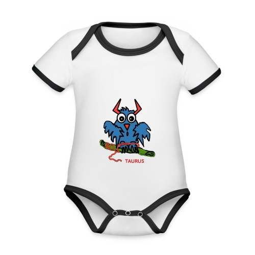 1523968600600 - Ekologisk kontrastfärgad kortärmad babybody