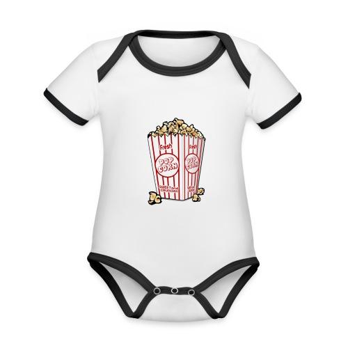 Popcorn trøje | ML Boozt | - Kortærmet økologisk babybody i kontrastfarver