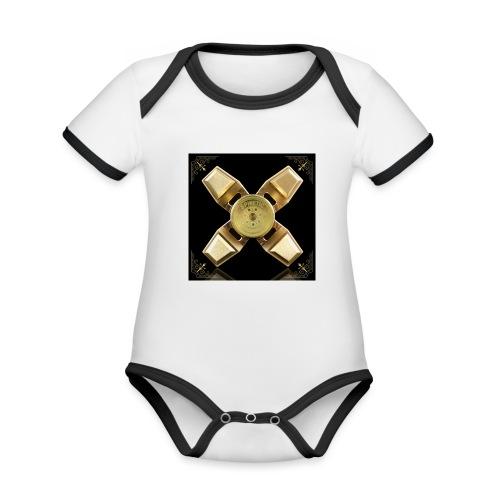 Spinneri paita - Vauvan kontrastivärinen, lyhythihainen luomu-body