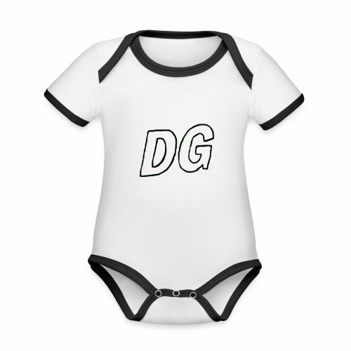 Dutchgamerz merch 2018 - Baby contrasterend bio-rompertje met korte mouwen