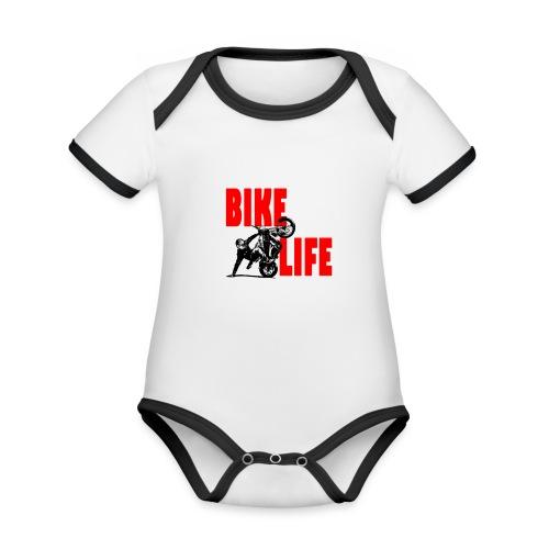 KEEP IT BIKELIFE - Organic Baby Contrasting Bodysuit