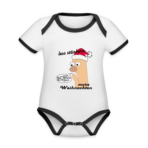 more Weihnachten - Baby Bio-Kurzarm-Kontrastbody