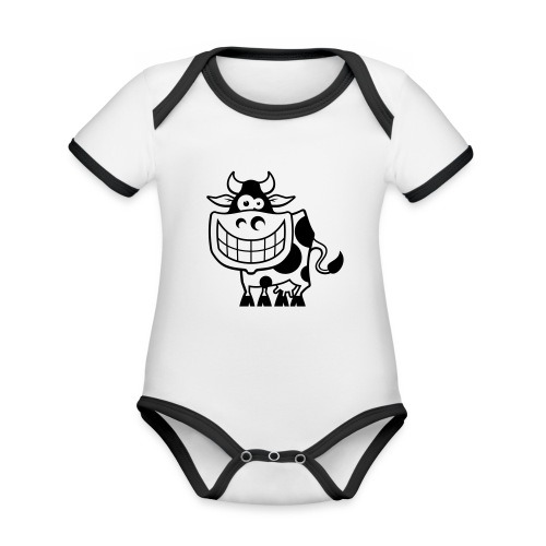 vl094a_kuh_1c - Baby Bio-Kurzarm-Kontrastbody