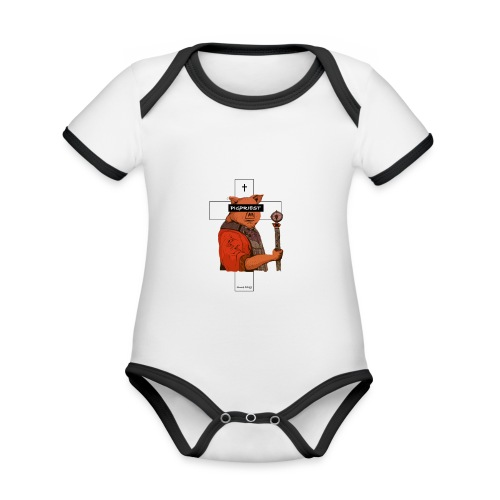 Pigpriest 1st edition - Baby Bio-Kurzarm-Kontrastbody