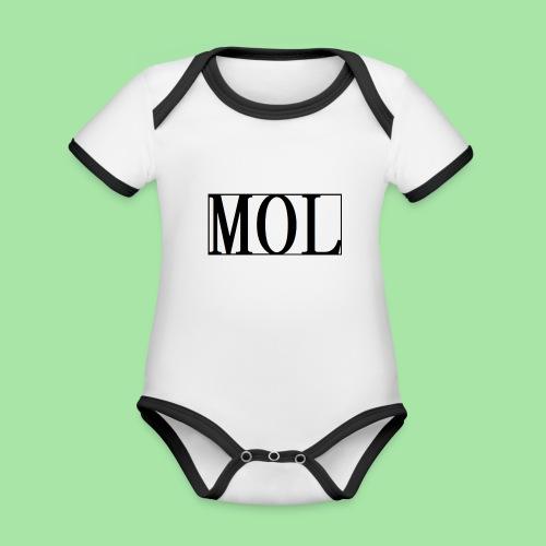 MOL - Body Bébé bio contrasté manches courtes
