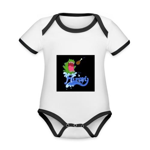 Baby hat hunger - Baby Bio-Kurzarm-Kontrastbody