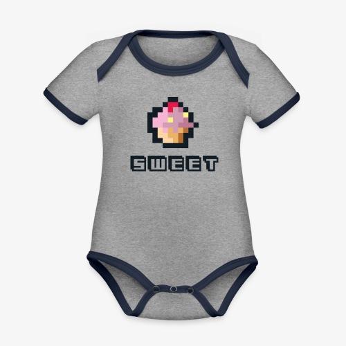 sweetjw - Ekologiczne body niemowlęce z krótkim rękawem i kontrastowymi lamówkami