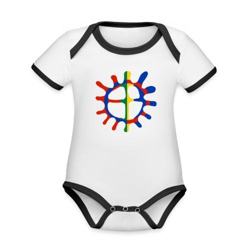 Samisk sol - Økologisk kortermet kontrast-babybody