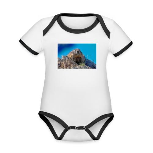 Murmeltier - Baby Bio-Kurzarm-Kontrastbody