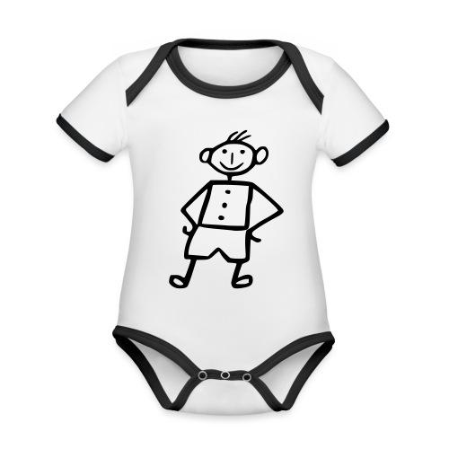 me-white - Baby Bio-Kurzarm-Kontrastbody
