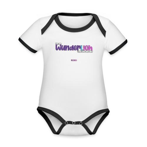 Ich bin WunderlICH - Baby Bio-Kurzarm-Kontrastbody