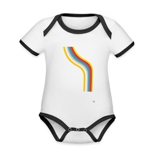 OmaggioB - Body da neonato a manica corta, ecologico e in contrasto cromatico