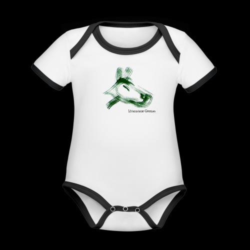 hundgrün.png - Baby Bio-Kurzarm-Kontrastbody