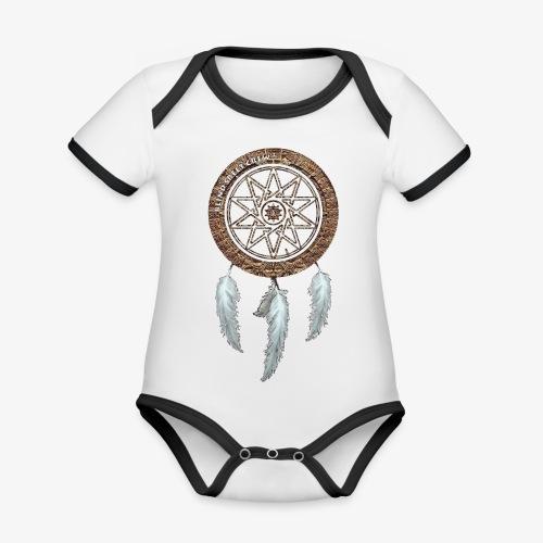 BSC F-Sign Native - Body da neonato a manica corta, ecologico e in contrasto cromatico