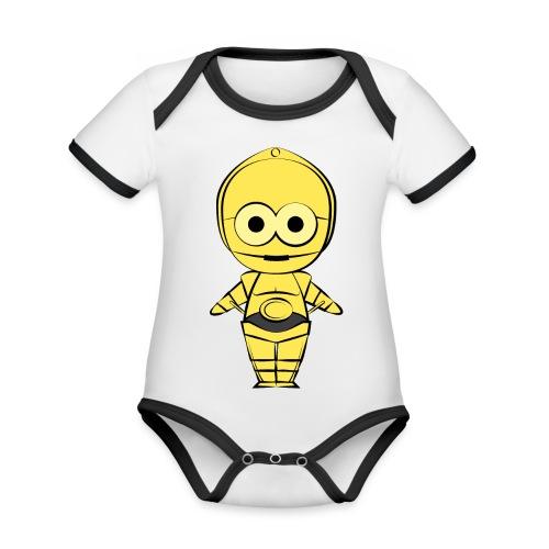 C-3PO - Body Bébé bio contrasté manches courtes