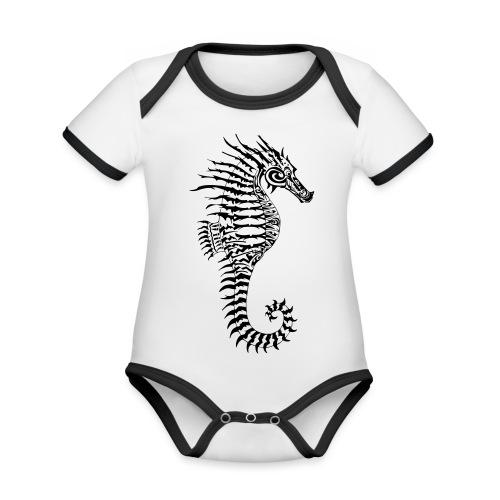Alien Seahorse Invasion - Organic Baby Contrasting Bodysuit