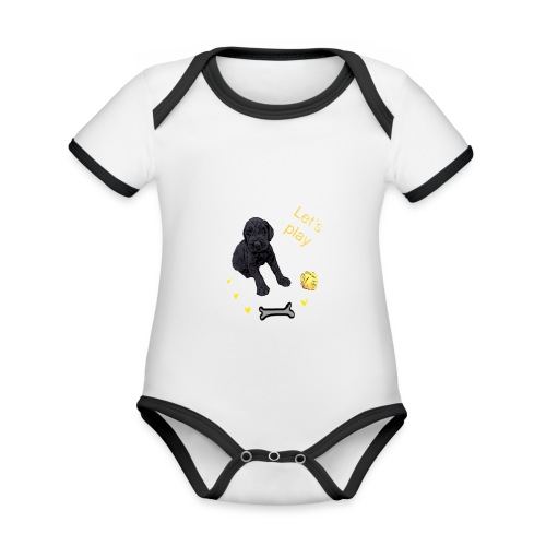 Giant Schnauzer puppy - Organic Baby Contrasting Bodysuit