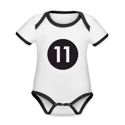 11 ball - Organic Baby Contrasting Bodysuit