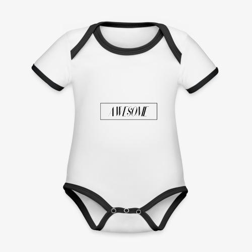 AWESOME - Baby Bio-Kurzarm-Kontrastbody