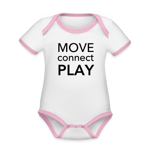 Move Connect Play - AcroYoga International - Organic Baby Contrasting Bodysuit