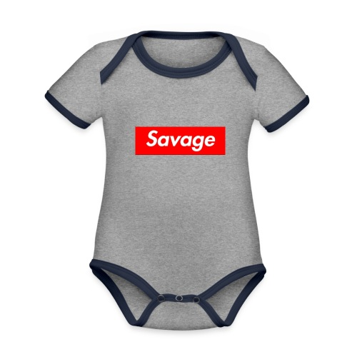 Clothing - Organic Baby Contrasting Bodysuit