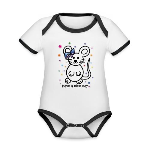 have a nice day - Baby Bio-Kurzarm-Kontrastbody