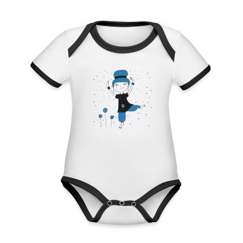 Bine - Tanz ins Blaue - Baby Bio-Kurzarm-Kontrastbody