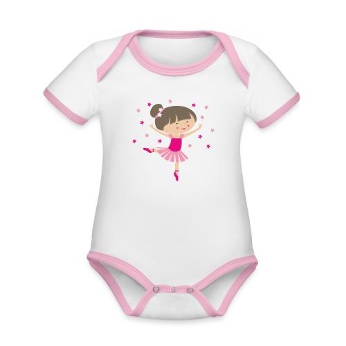 Happy Meitlis - Ballerina - Baby Bio-Kurzarm-Kontrastbody