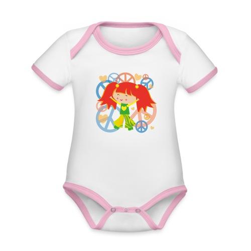 Happy Meitlis - Be Happy - Baby Bio-Kurzarm-Kontrastbody