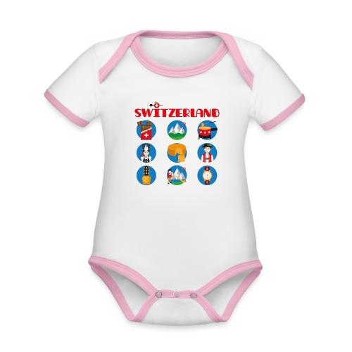 Switzerland - Baby Bio-Kurzarm-Kontrastbody