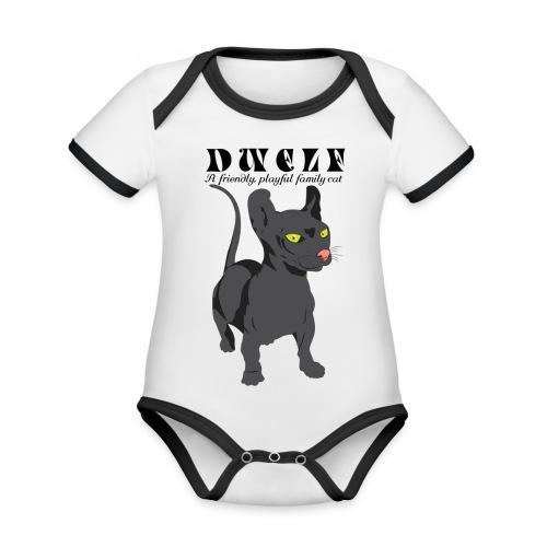 DWELF - Vauvan kontrastivärinen, lyhythihainen luomu-body