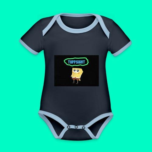 Topsight - Ekologisk kontrastfärgad kortärmad babybody