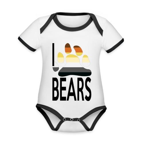 I love bears - Body Bébé bio contrasté manches courtes