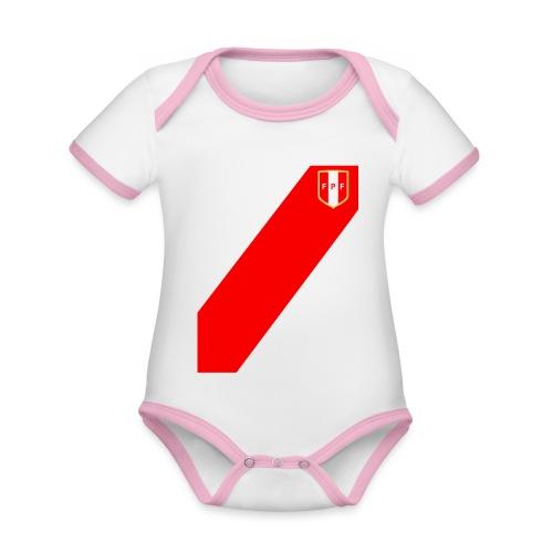 Seleccion peruana de futbol (Recto-verso) - Organic Baby Contrasting Bodysuit