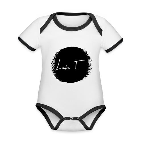 Logo Labo T. - Body Bébé bio contrasté manches courtes