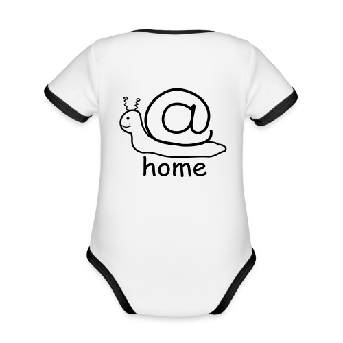 at home schnecke - Baby Bio-Kurzarm-Kontrastbody