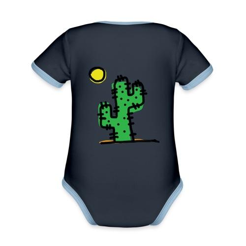Cactus single - Body da neonato a manica corta, ecologico e in contrasto cromatico