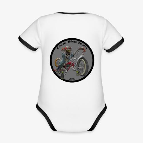 Custom Riders Emmen - Baby contrasterend bio-rompertje met korte mouwen